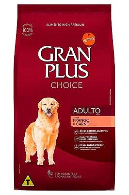 Ração GranPlus Choice Super Premium Sabor Frango e Carne para Cães Adultos - 20kg