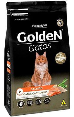 Ração Golden Sabor Salmão para Gatos Castrados - 1Kg