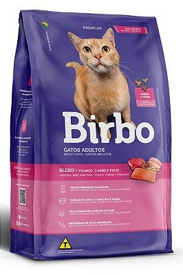 Ração Birbo Premium Sabor Frango, Carne e Peixe para Gatos Adultos - 10,1Kg