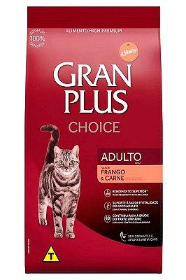 Ração GranPlus Choice Super Premium Sabor Frango e Carne para Gatos Adultos - 10,1Kg