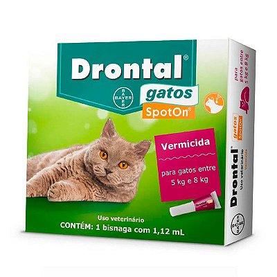 Vermífugo Drontal SpotOn para Gatos de 5Kg a 8Kg - 1 Bisnaga de 1,12 mL
