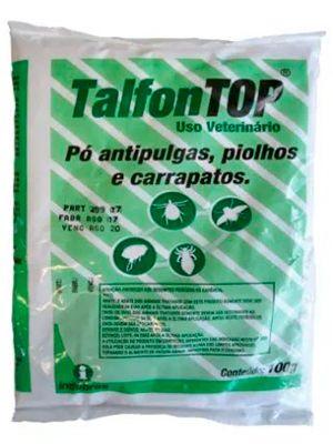 Pó Talfon Top Indubras Antipulgas, Piolhos e Carrapatos para Cães, Gatos e Ambientes - 100g