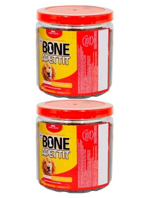 Kit 2 Bifinho Bone Apettit Sabor Carne de 1kg