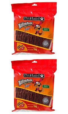 Kit 2 Bifinhos PetHand Sabor Carne de 1kg