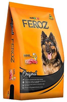 Ração Feroz Original Sabor Carne e Frango para Cães Adultos - 20Kg