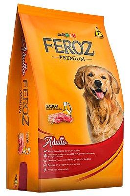 Ração Feroz Premium Sabor Carne e Frango para Cães Adultos - 20kg