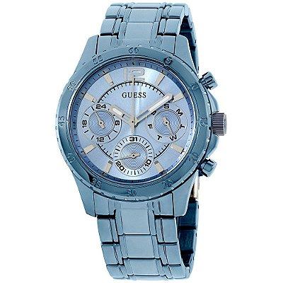 Relógio Guess Feminino Latitude Sky Blue W0704L2 - 92581LPGSEA3