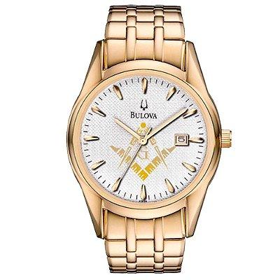 Relógio Bulova Masculino Maçonaria WB21445HM