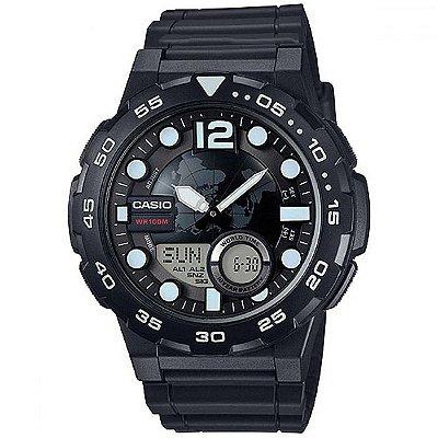 Relógio Casio Masculino Telememo AEQ-100W-1AVDF