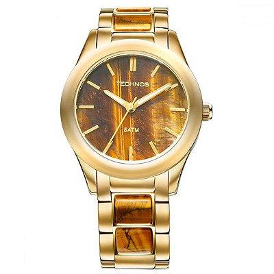 Relógio Technos Feminino Stone Olho de Tigre 2033AD/4M