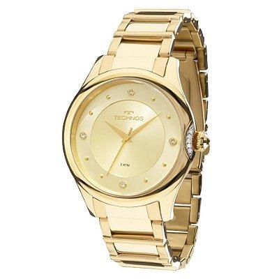 Relógio Technos Feminino Elegance Crystal 2035MFR/4X
