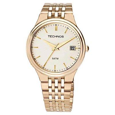Relógio Technos Masculino Classic Steel 2115GR/4X