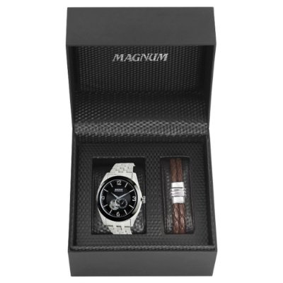Relógio Magnum Masculino Automático MA31486C + Pulseira Magnum