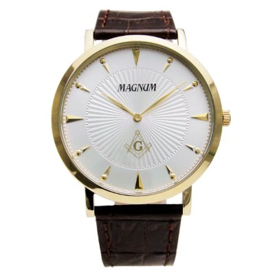 Relógio Magnum Masculino Maçonaria Slim MA21900S