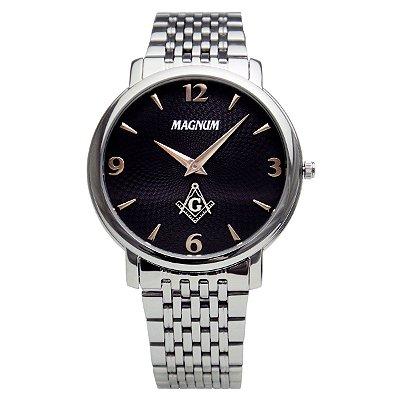 Relógio Magnum Masculino Maçonaria MA21624T