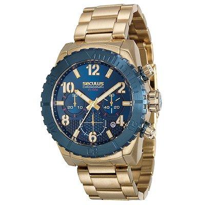 Relógio Seculus Masculino 13011GPSVLA1