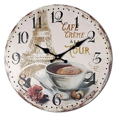 Relógio de Parede Café Creme a lá Tour