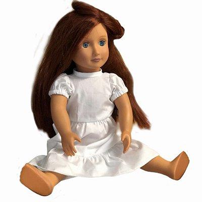 Vestido para Boneca | Branco