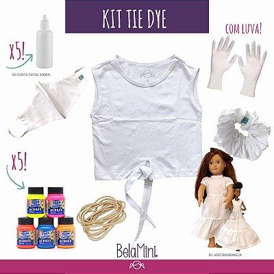 Kit Tie Dye | Camiseta + acessórios + boneca