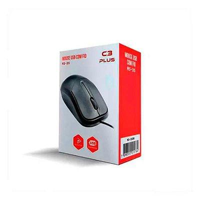 MOUSE COLETEK USB CK-MS35BK PRETO (S/LOGO) - 1 UN
