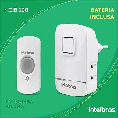 CAMPAINHA SEM FIO COM BATERIA CIB 100