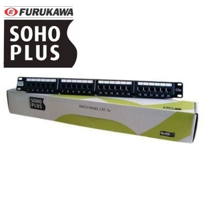 PATCH PANEL SOHOPLUS CAT 5E T568A/B 24P - 35050401