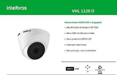 """CAMERA VHL 1120 D LENTE 3.6MM SENSOR 1/2.7"""" - HDCVI"""