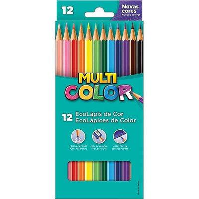 Lapis de cor (sextavado) Multicolor Super Eco 12 Cores - Faber-Castell
