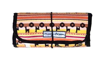 Porta Bijoux Estampa Étnica com Divisórias e Necessaire