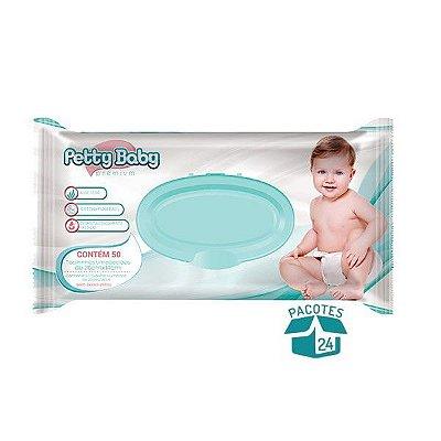 Toalhinha Umedecida Petty Baby Premium 50 Unidades - 24 Pacotes