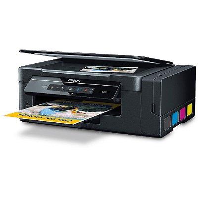 Impressora EPSON L395 ECOTANK  WIFI com 520ml de Tinta Original Inktec corante ( Substituta da EPSON L375 )