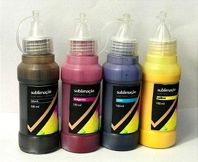 Tinta Sublimática PRO - frasco com 100ml
