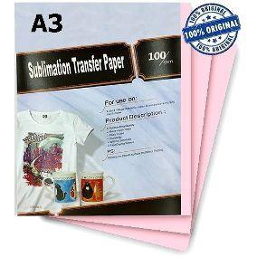 Papel Sublimático A3 do fundo rosa tratado - Pacote de 50 folhas
