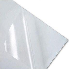 Papel sublimático adesivo VINIL TRANSPARENTE A4   - 10 folhas