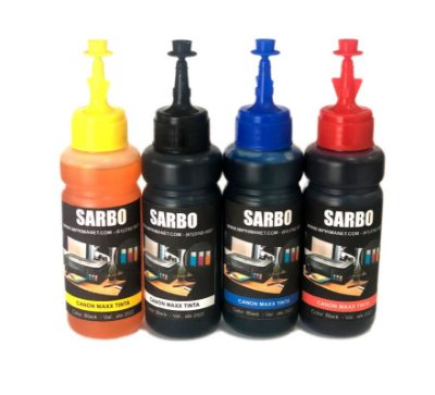 Tinta para impressora CANON MAXX TINTA G1100 / G2100 / G3100 / G3102 / G4100 - MARCA SARBO - frasco com 100ml
