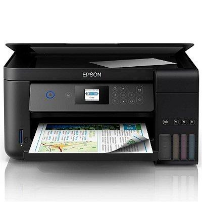 Multifuncional EPSON L4160 Ecotank Wifi ( Frente e verso automático e impressão sem borda ) com frascos de 130ml de tinta corante INKTEC