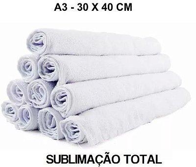 5 Toalha De Lavabo para Sublimação Total A3 30x40cm
