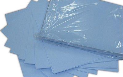 Papel sublimático A4 fundo azul tratado para sublimação - Pacote de 100 folhas