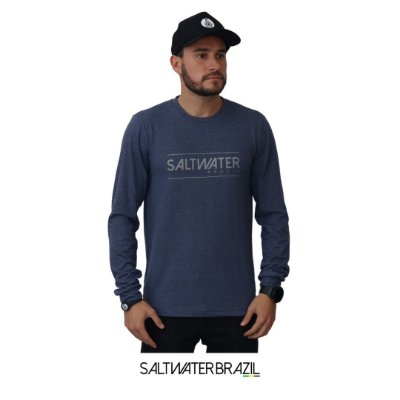 Camiseta Long Sleeve Salt Water Brazil