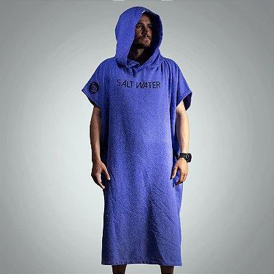 Surf Poncho 100% algodão Salt Water Brazil Azul Royal