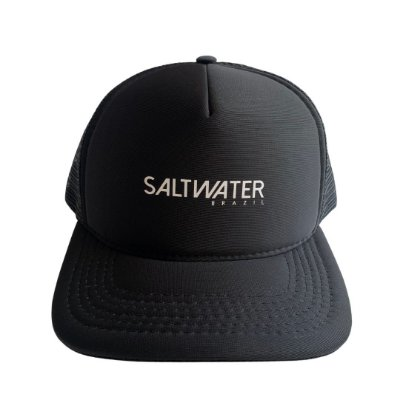 Boné Trucker - Preto Salt Water Brazil