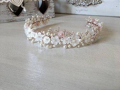 Headband Enchanted Amanda em madrepérolas naturais