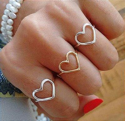 Anel Coração Lisa