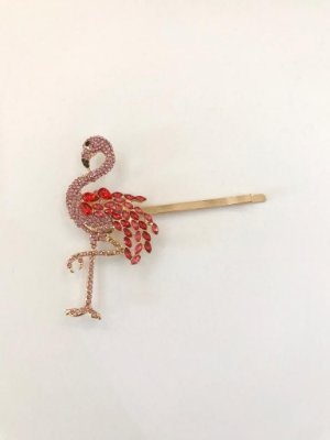 Presilha Flamingo Cravejado Rosa