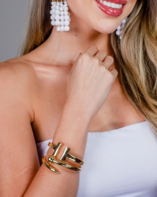 Bracelete Dourado Maria