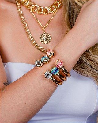Bracelete com Detalhe Resinado