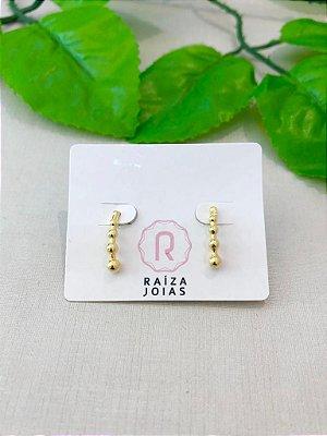 Brinco Mini Ear Hook Bolinhas