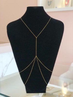 Colar Body Chain De Corrente