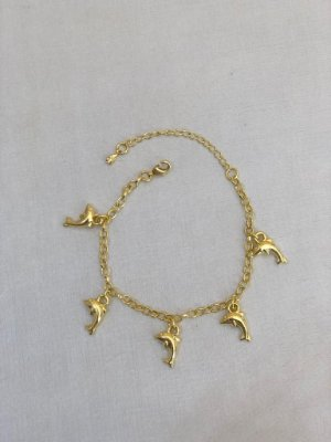 Pulseiras Golfinhos Dourado
