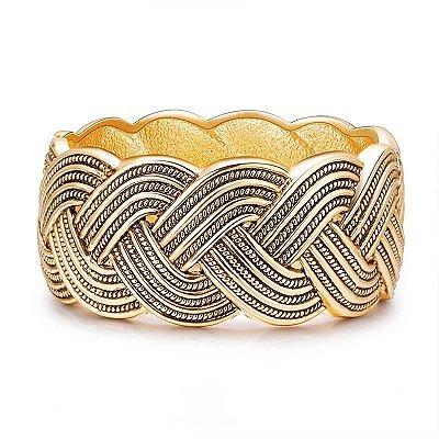 Bracelete Trançado Ouro Velho